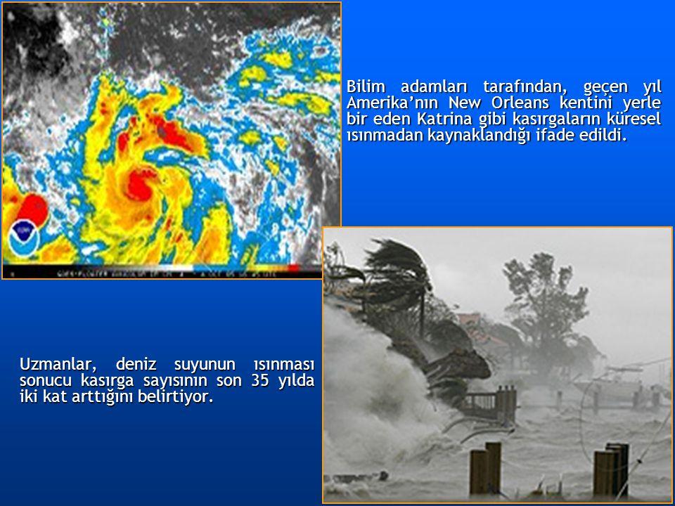 Bilim adamları tarafından, geçen yıl Amerika'nın New Orleans kentini yerle bir eden Katrina gibi kasırgaların küresel ısınmadan kaynaklandığı ifade edildi.