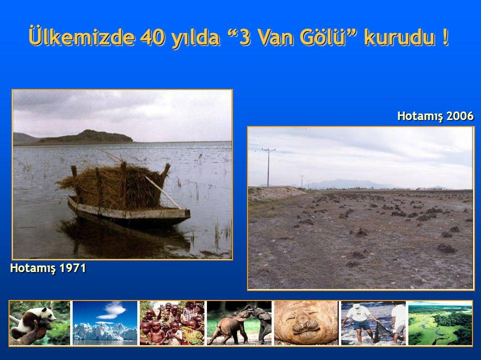Ülkemizde 40 yılda 3 Van Gölü kurudu !
