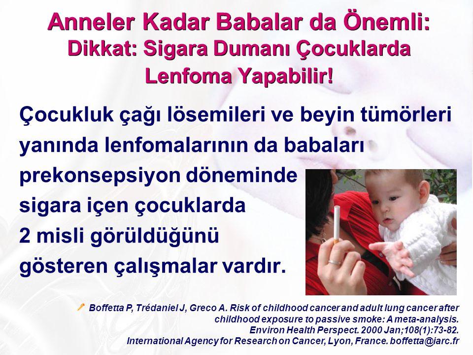 Anneler Kadar Babalar da Önemli: Dikkat: Sigara Dumanı Çocuklarda Lenfoma Yapabilir!