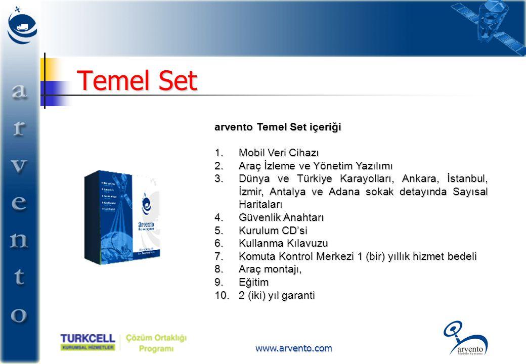 Temel Set arvento Temel Set içeriği Mobil Veri Cihazı