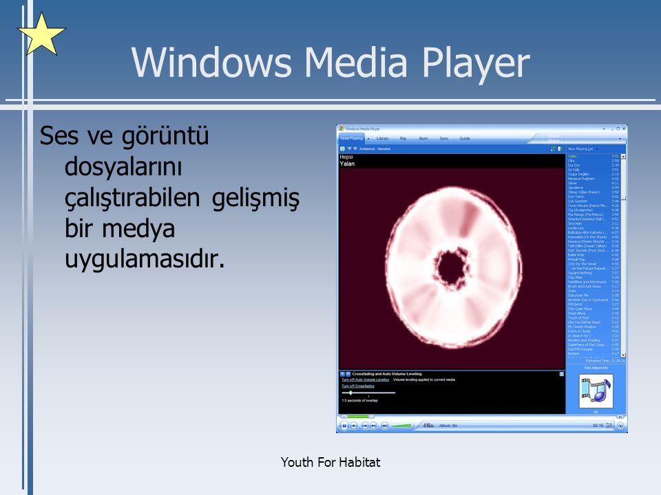 Windows Media Player Ses ve görüntü dosyalarını çalıştırabilen gelişmiş bir medya uygulamasıdır.