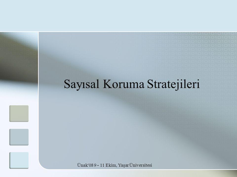 Ünak 08 9 - 11 Ekim, Yaşar Üniversitesi