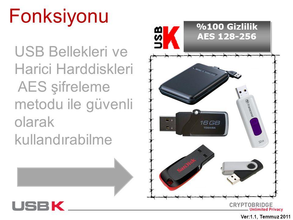 Fonksiyonu USB Bellekleri ve Harici Harddiskleri
