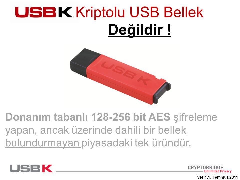 Kriptolu USB Bellek Değildir !