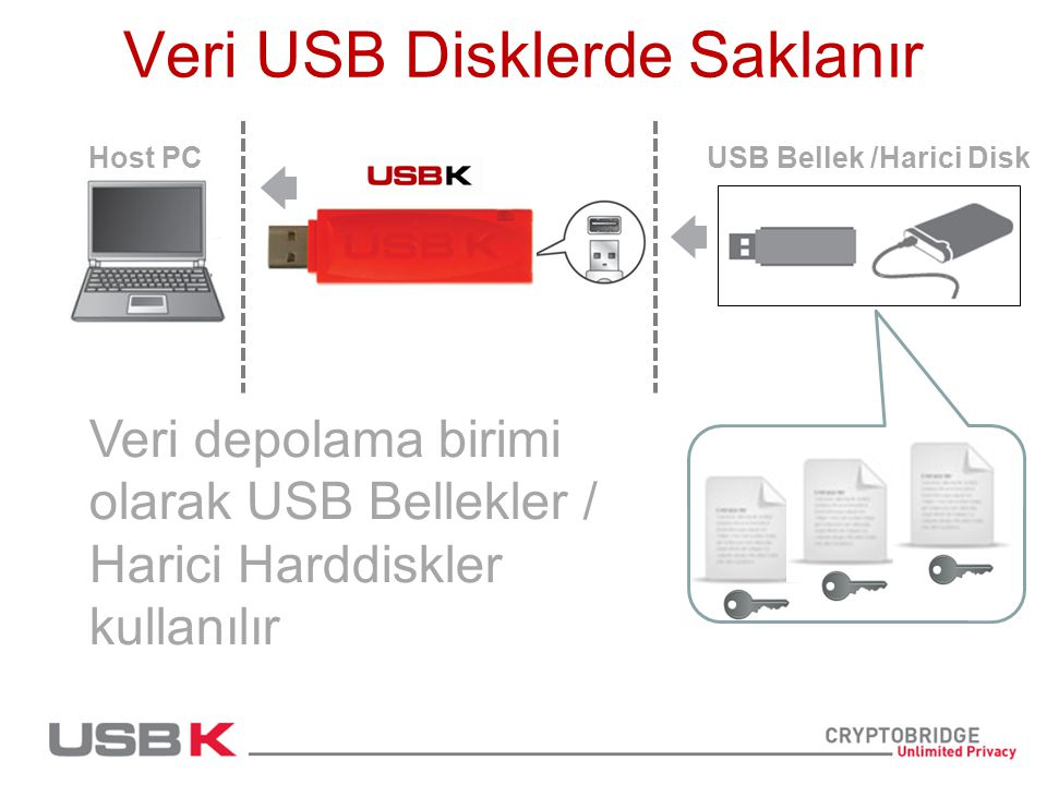 Veri USB Disklerde Saklanır