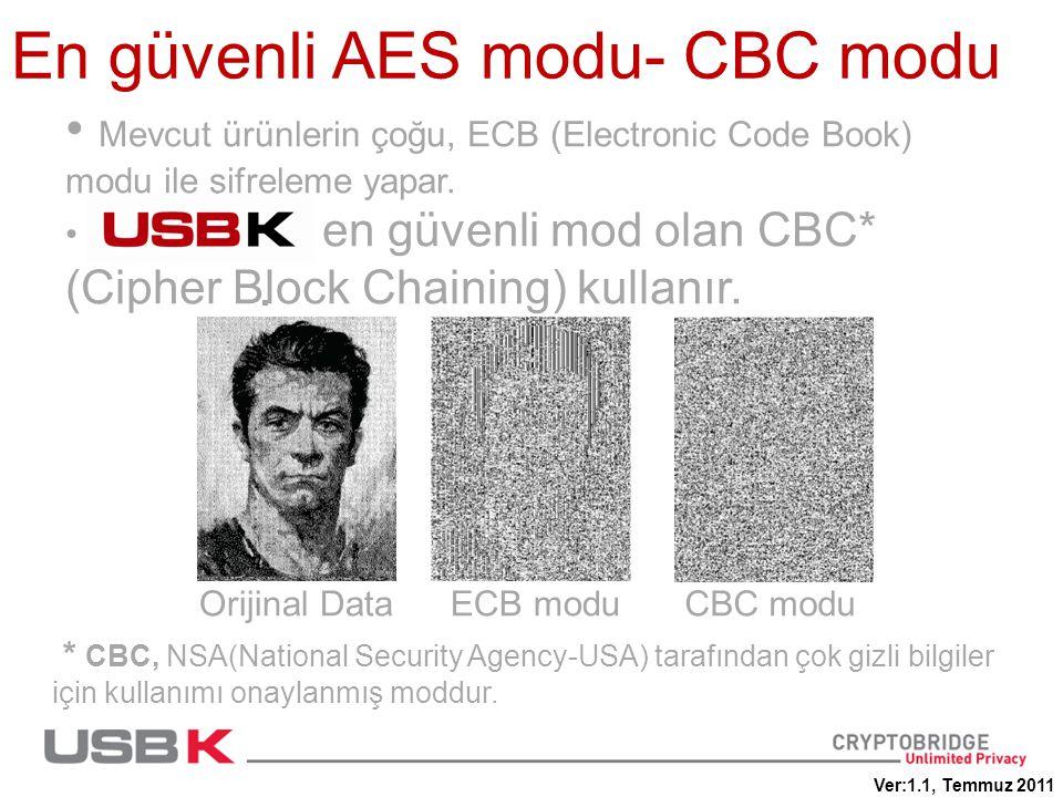 En güvenli AES modu- CBC modu