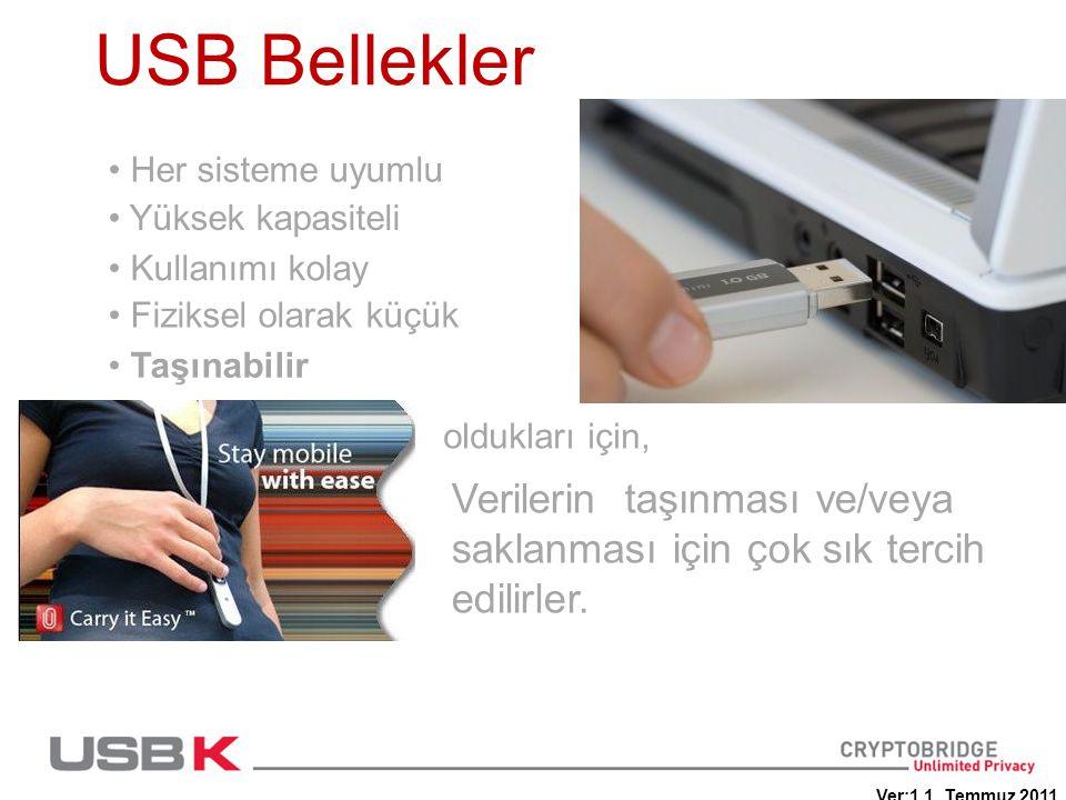 USB Bellekler Her sisteme uyumlu. Yüksek kapasiteli. Kullanımı kolay. Fiziksel olarak küçük. Taşınabilir.