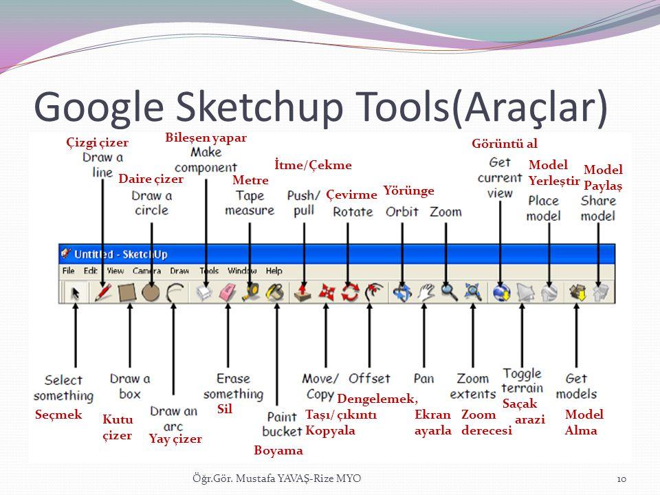 Google Sketchup Tools(Araçlar)
