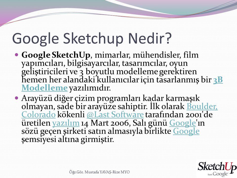 Google Sketchup Nedir