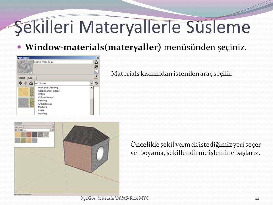 Şekilleri Materyallerle Süsleme