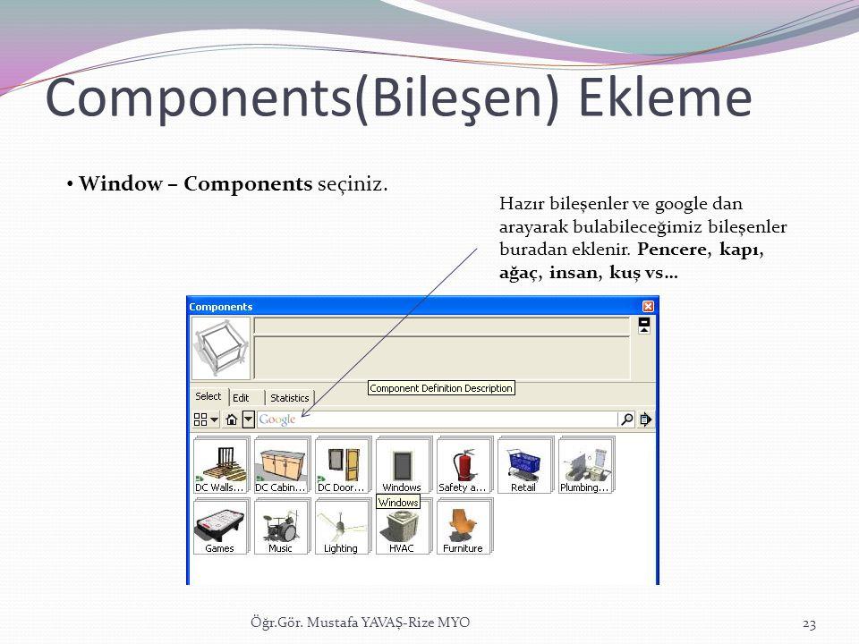 Components(Bileşen) Ekleme