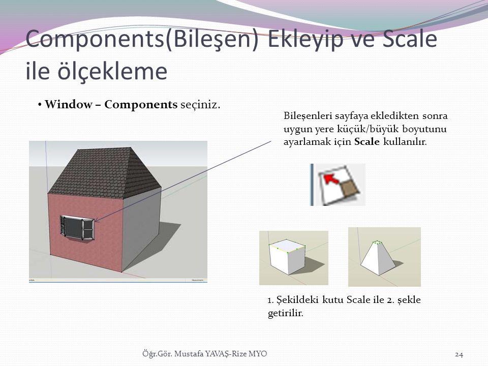 Components(Bileşen) Ekleyip ve Scale ile ölçekleme