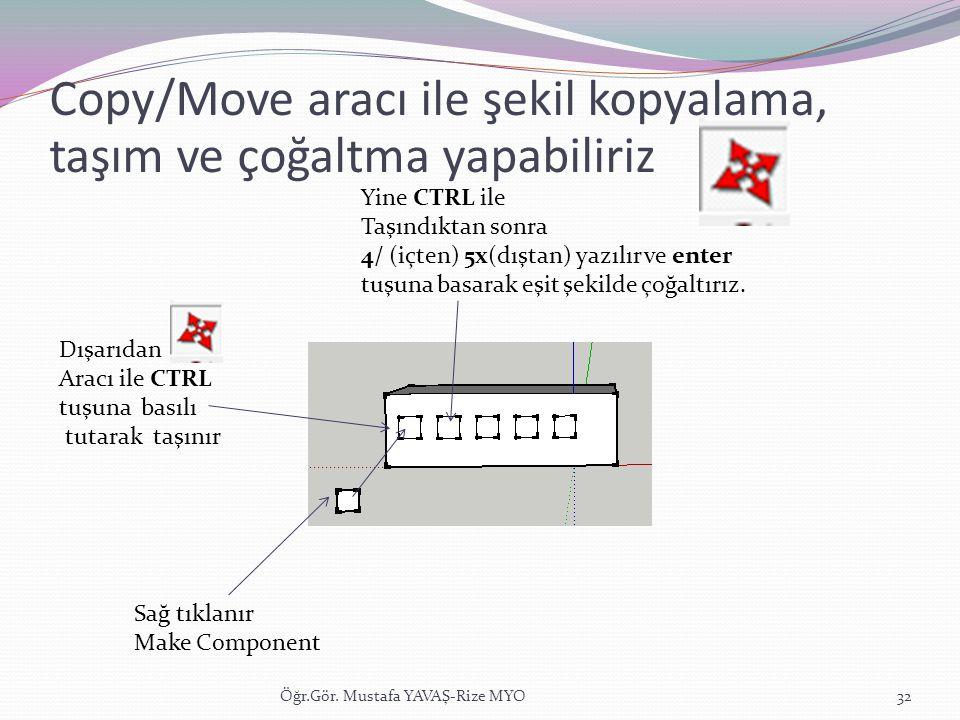Copy/Move aracı ile şekil kopyalama, taşım ve çoğaltma yapabiliriz