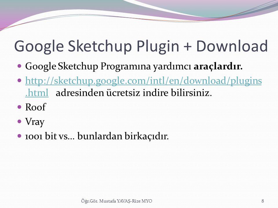 Google Sketchup Plugin + Download