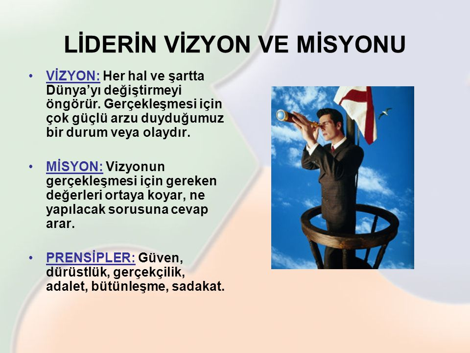 LİDERİN VİZYON VE MİSYONU