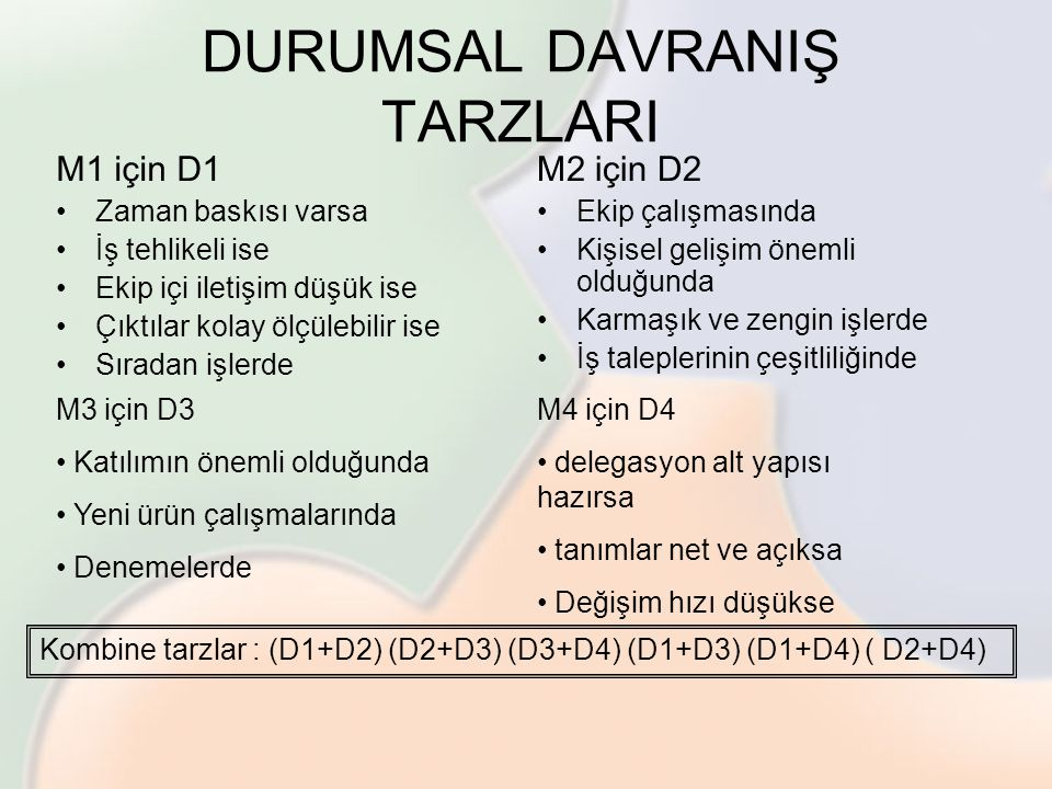 DURUMSAL DAVRANIŞ TARZLARI