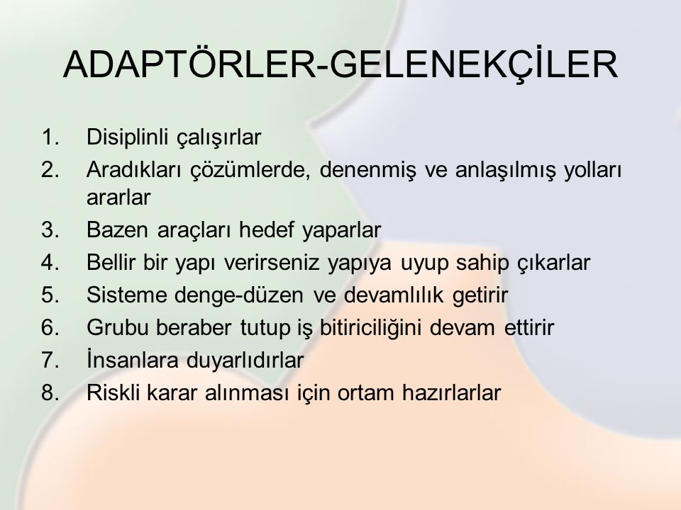 ADAPTÖRLER-GELENEKÇİLER