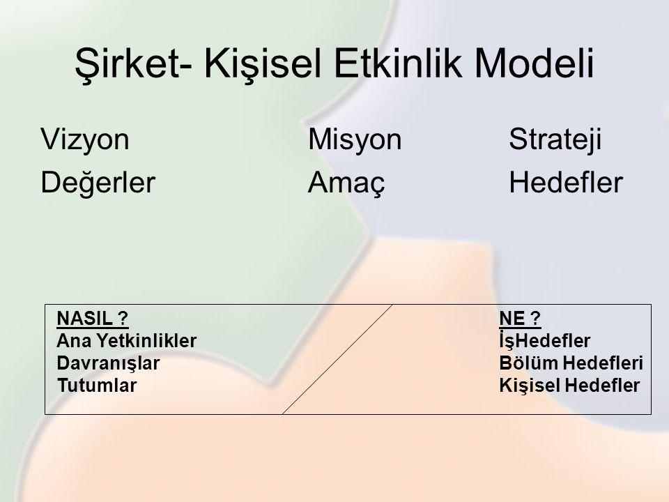 Şirket- Kişisel Etkinlik Modeli