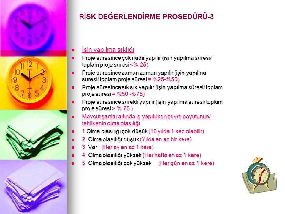 RİSK DEĞERLENDİRME PROSEDÜRÜ-3
