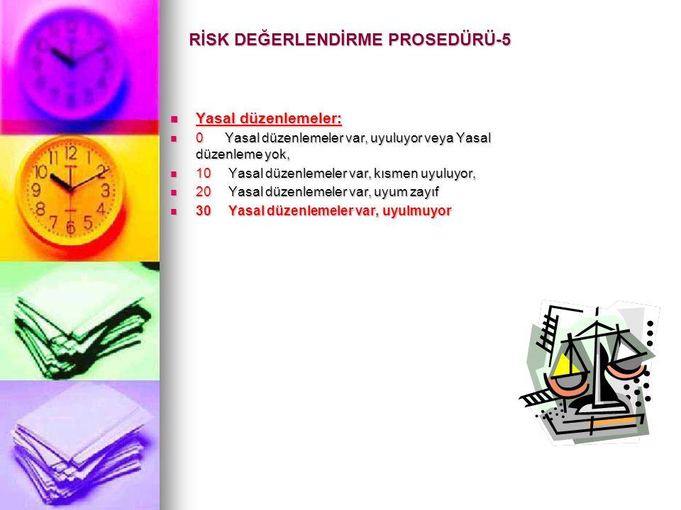 RİSK DEĞERLENDİRME PROSEDÜRÜ-5