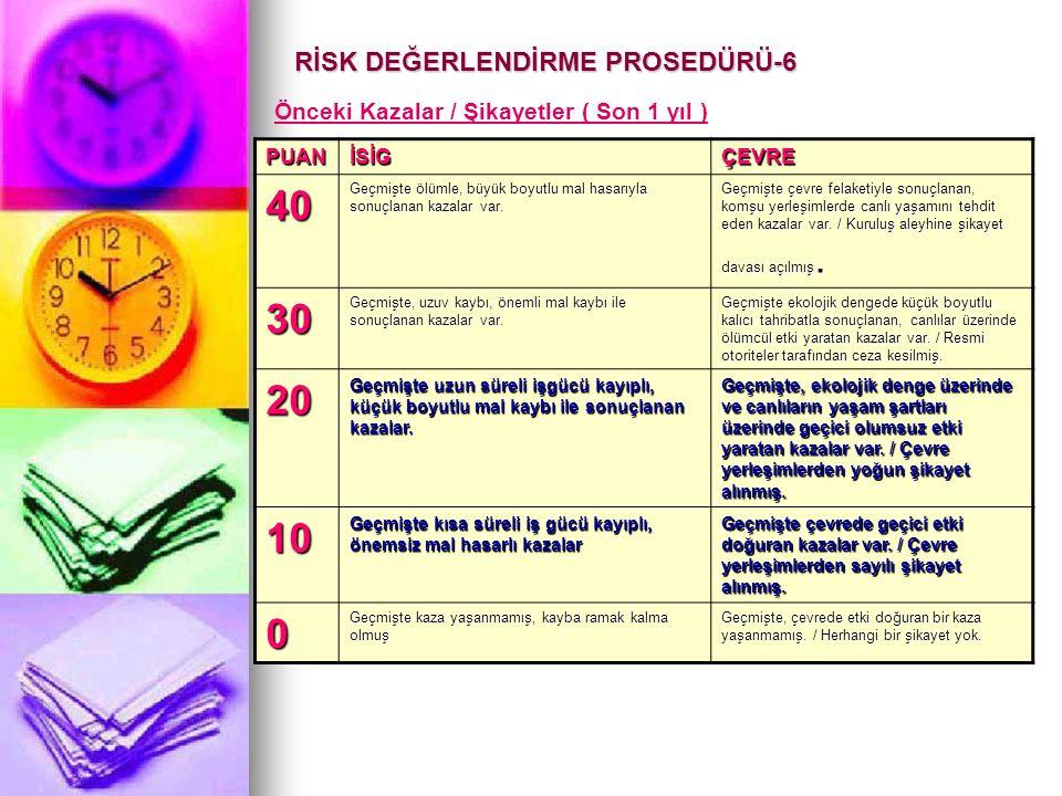 RİSK DEĞERLENDİRME PROSEDÜRÜ-6