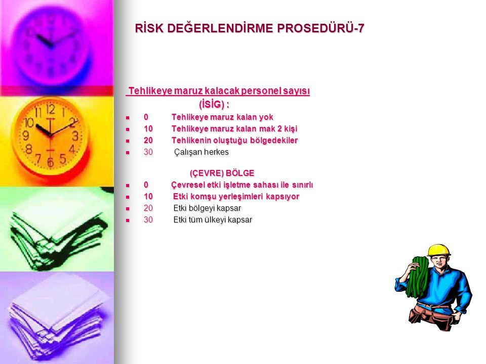 RİSK DEĞERLENDİRME PROSEDÜRÜ-7