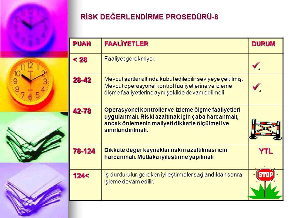 RİSK DEĞERLENDİRME PROSEDÜRÜ-8