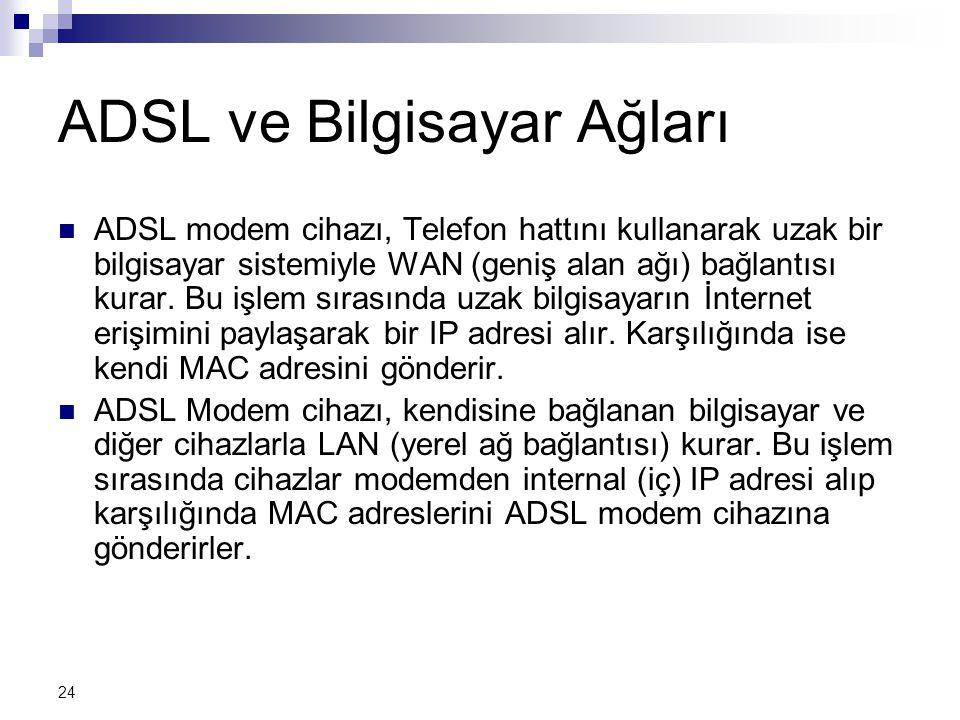 ADSL ve Bilgisayar Ağları