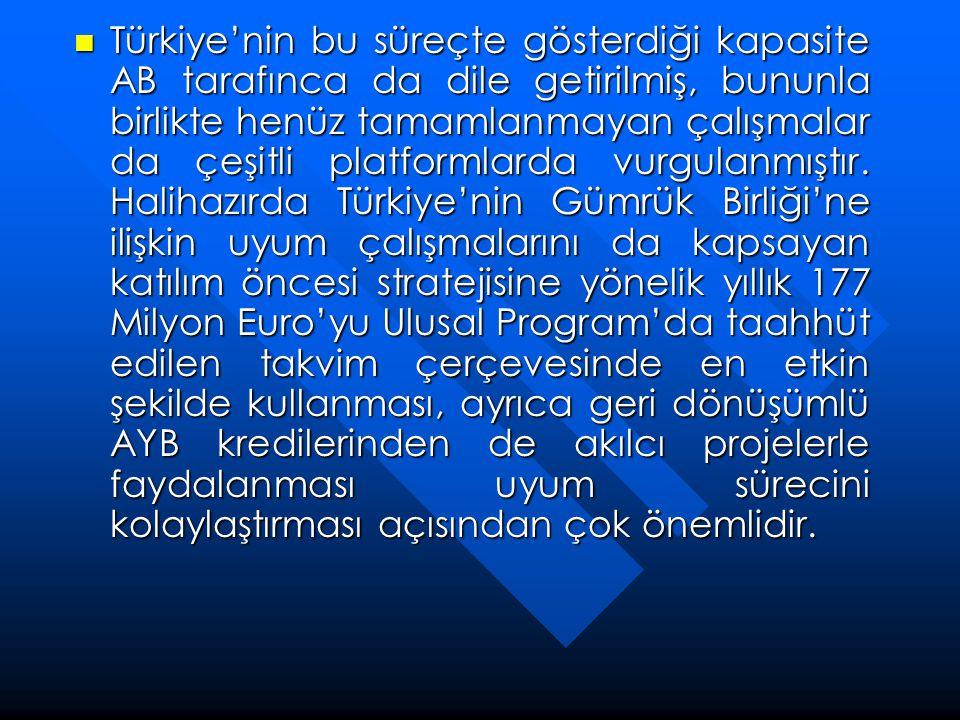 Türkiye'nin bu süreçte gösterdiği kapasite AB tarafınca da dile getirilmiş, bununla birlikte henüz tamamlanmayan çalışmalar da çeşitli platformlarda vurgulanmıştır.