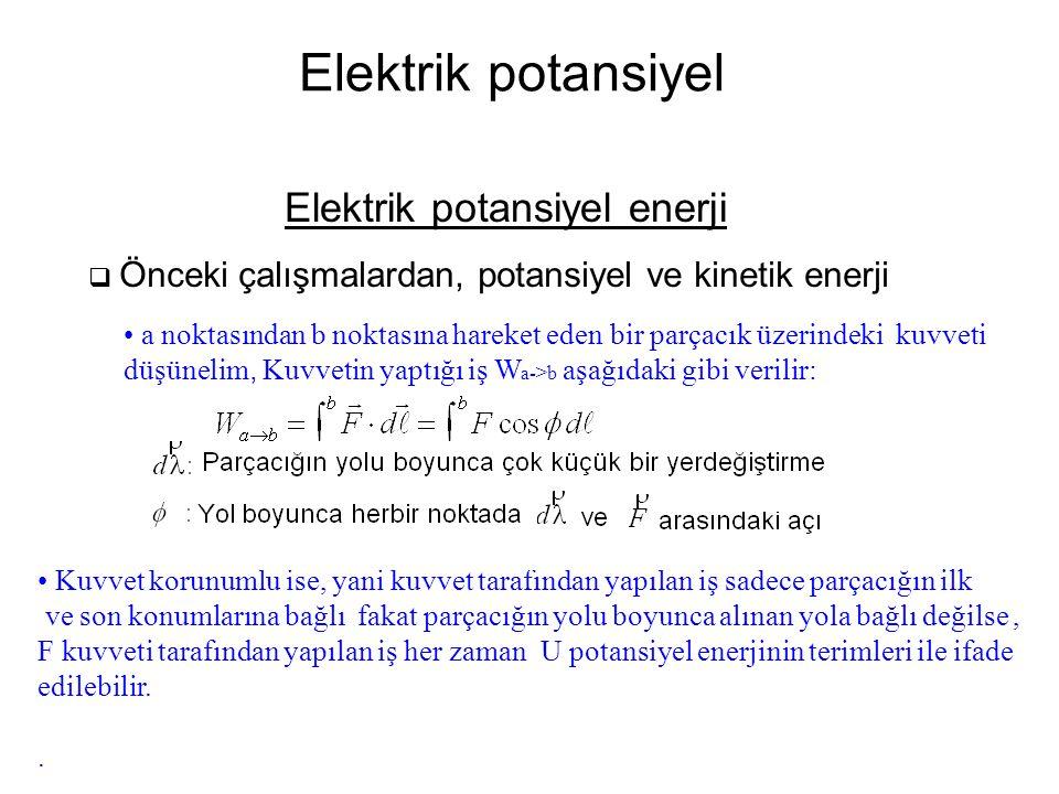 Elektrik potansiyel enerji