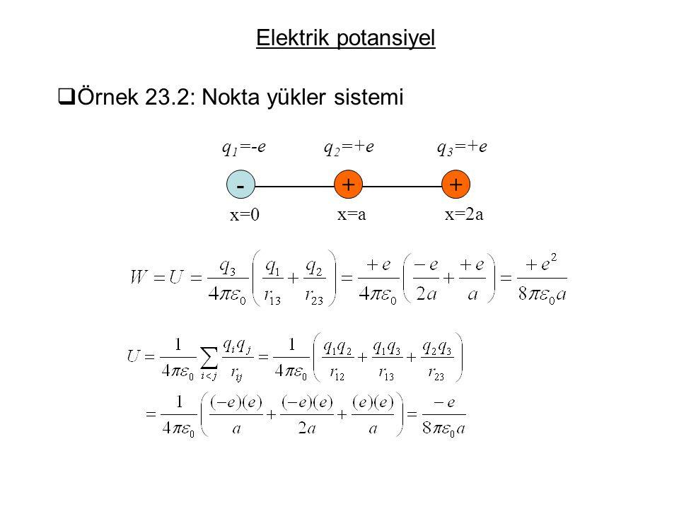 Örnek 23.2: Nokta yükler sistemi