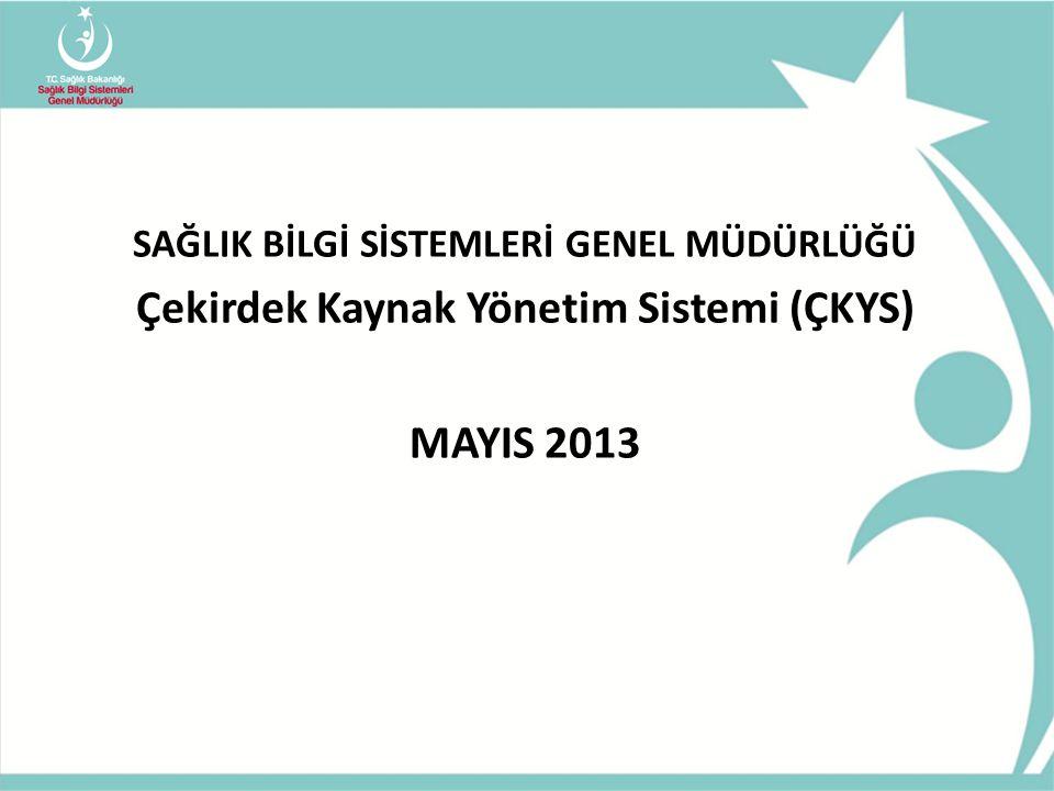 Çekirdek Kaynak Yönetim Sistemi (ÇKYS) MAYIS 2013