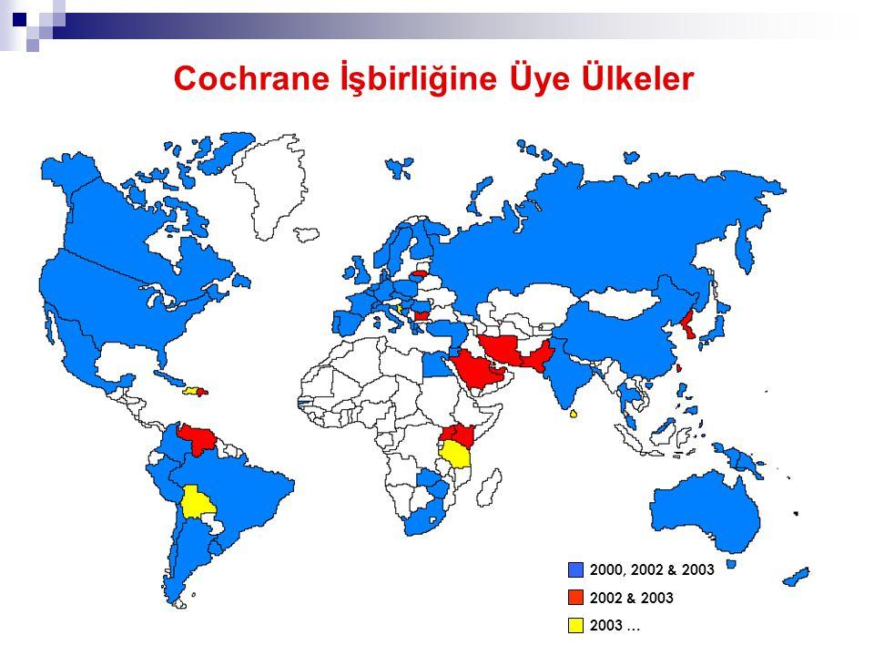 Cochrane İşbirliğine Üye Ülkeler
