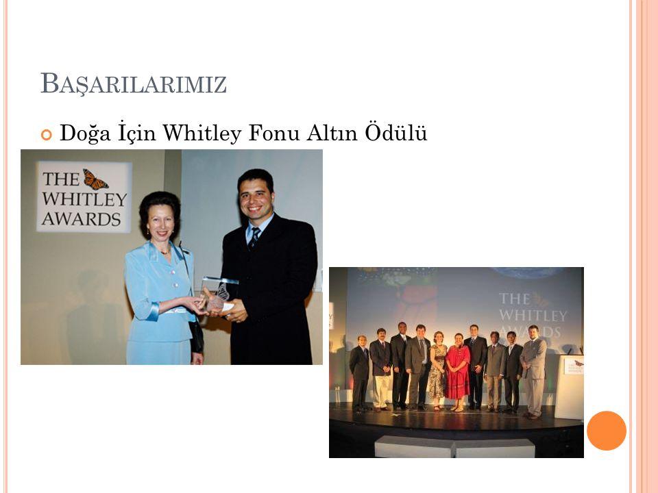 Başarilarimiz Doğa İçin Whitley Fonu Altın Ödülü