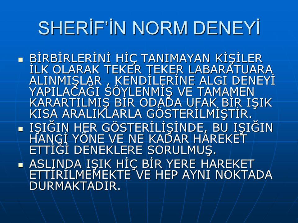 SHERİF'İN NORM DENEYİ