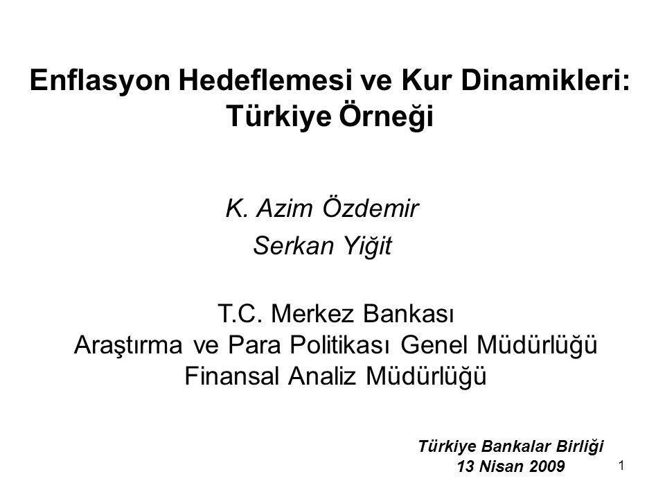 Enflasyon Hedeflemesi ve Kur Dinamikleri: Türkiye Örneği