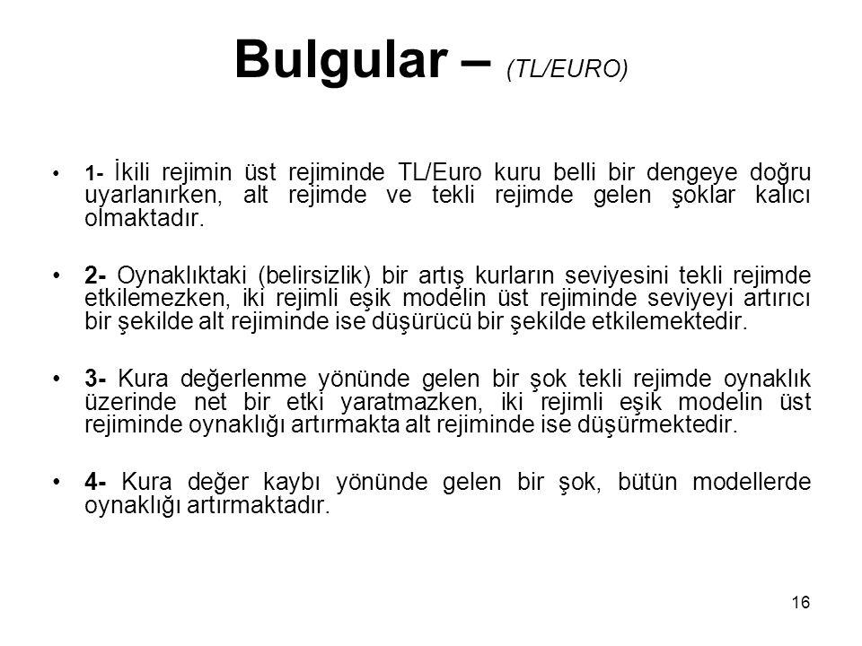 Bulgular – (TL/EURO)