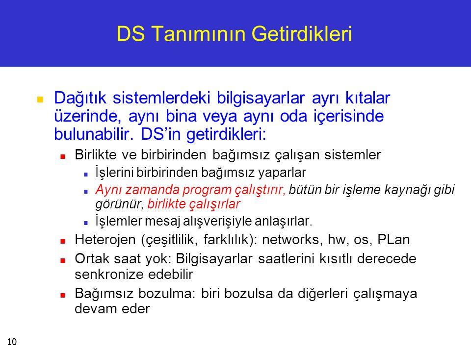DS Tanımının Getirdikleri