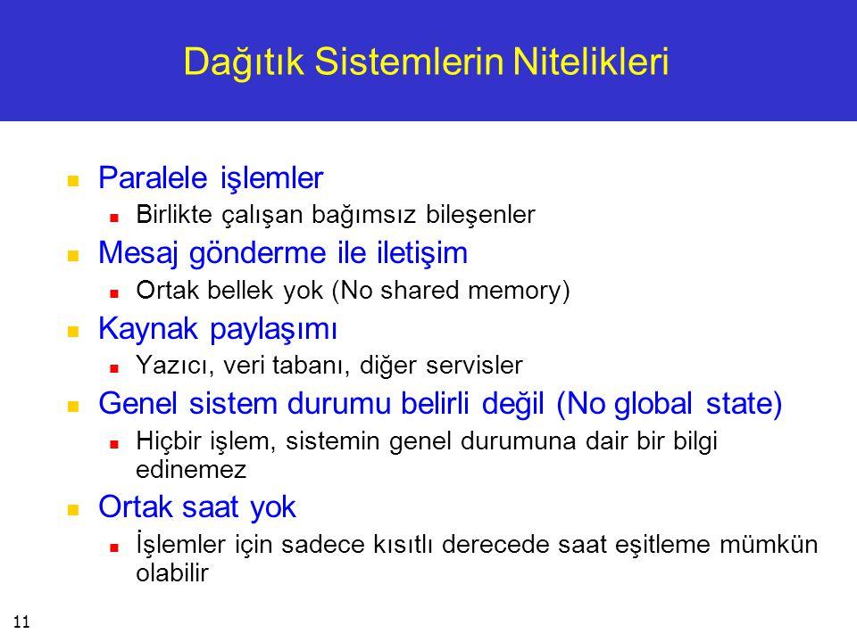 Dağıtık Sistemlerin Nitelikleri