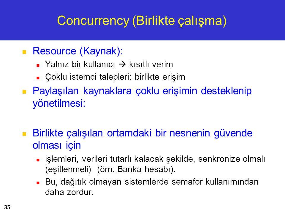 Concurrency (Birlikte çalışma)