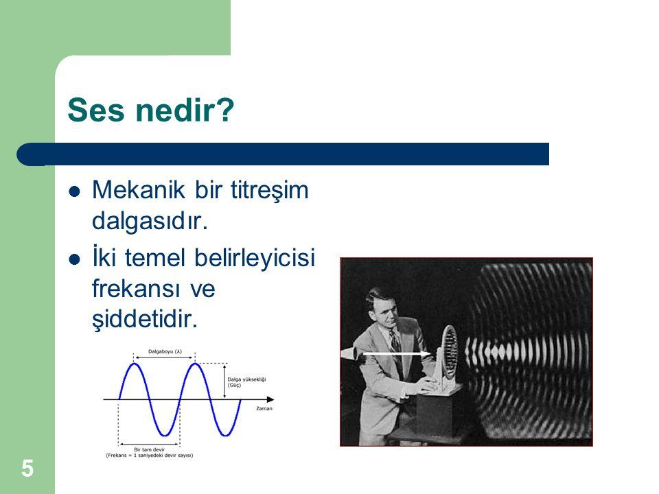 Ses nedir Mekanik bir titreşim dalgasıdır.