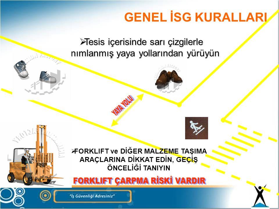 FORKLIFT ÇARPMA RİSKİ VARDIR