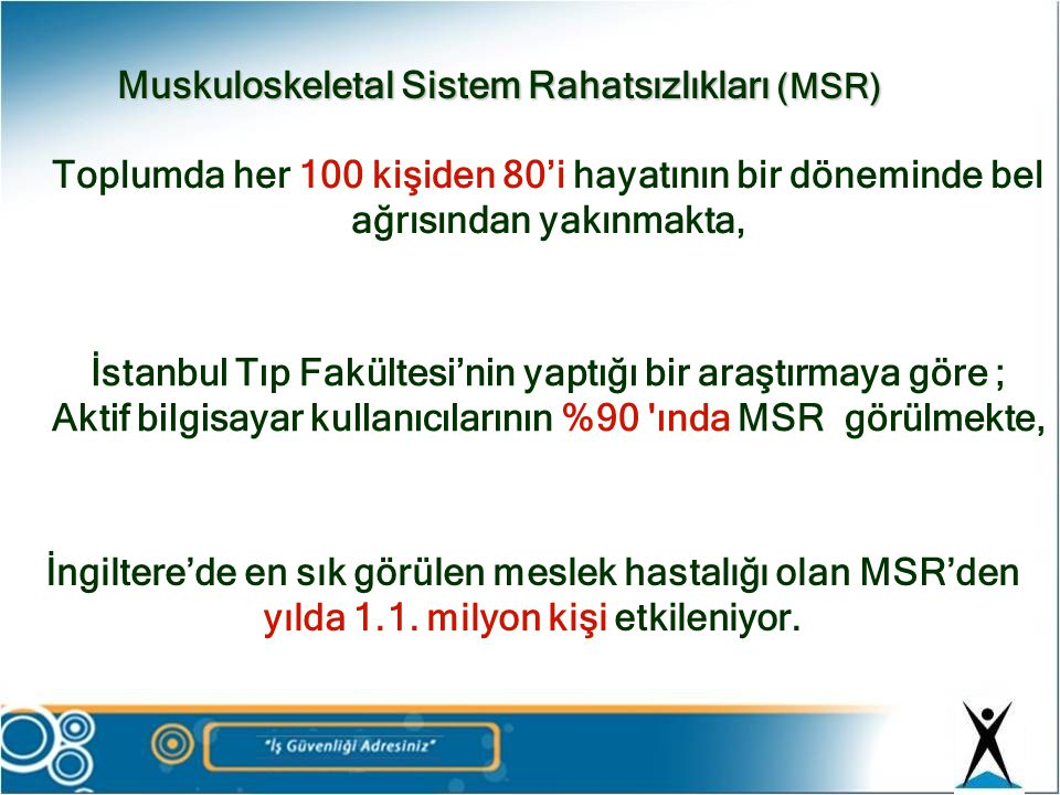 Muskuloskeletal Sistem Rahatsızlıkları (MSR)