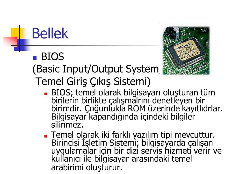 Bellek BIOS (Basic Input/Output System, Temel Giriş Çıkış Sistemi)