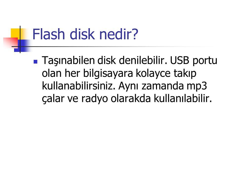 Flash disk nedir