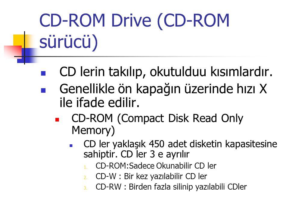 CD-ROM Drive (CD-ROM sürücü)