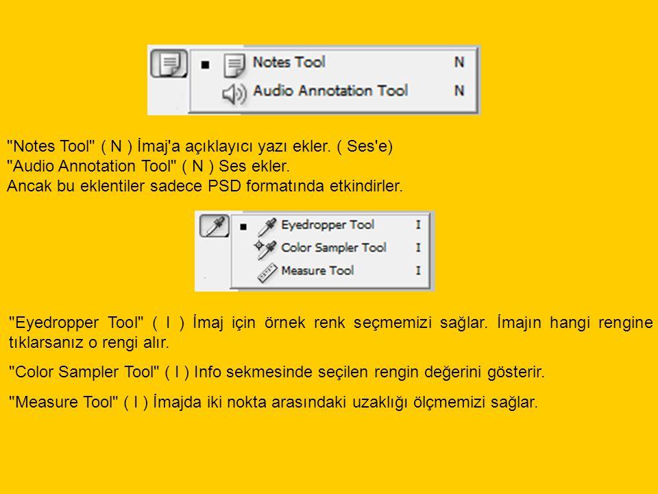Notes Tool ( N ) İmaj a açıklayıcı yazı ekler
