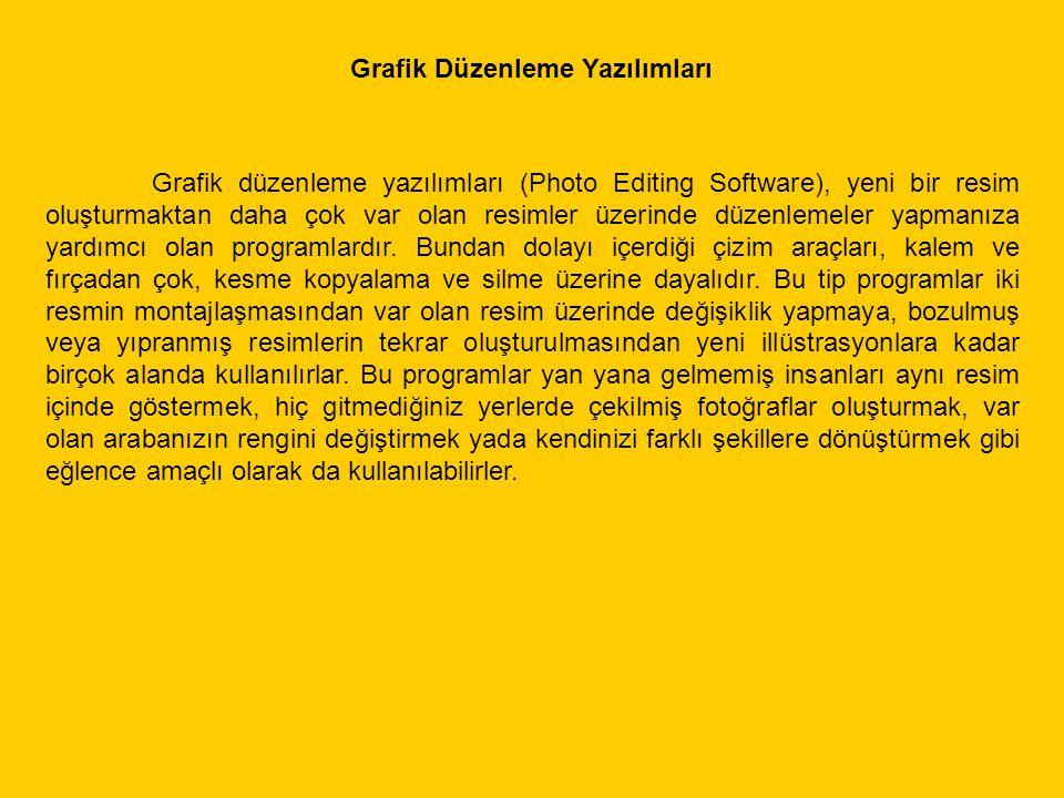 Grafik Düzenleme Yazılımları