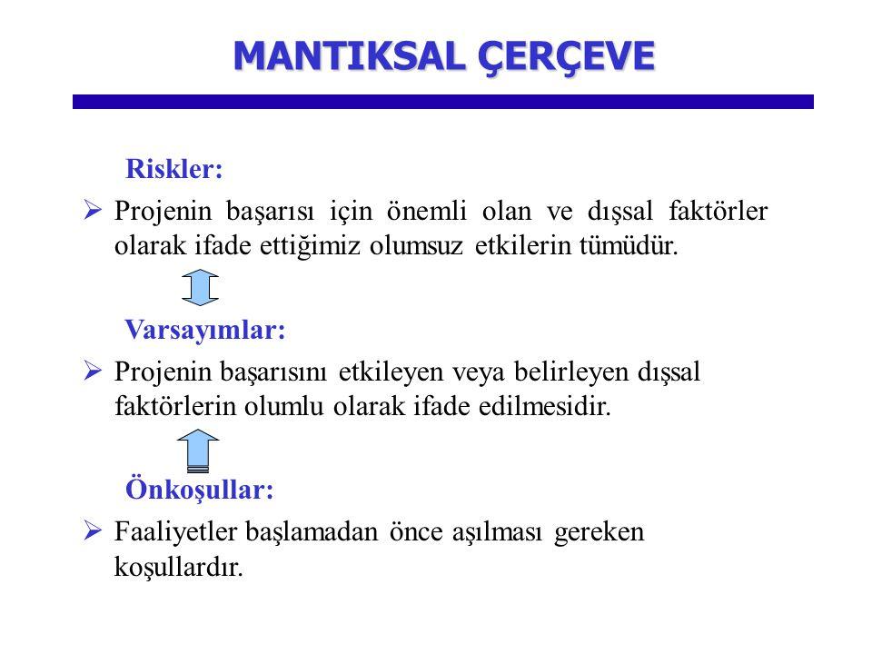 MANTIKSAL ÇERÇEVE Riskler: