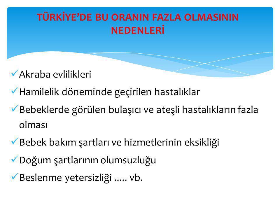 TÜRKİYE'DE BU ORANIN FAZLA OLMASININ NEDENLERİ
